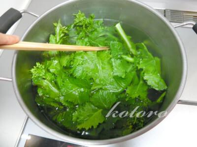 「アブラナ・かき菜・菜の花」美味しい茹で方♪